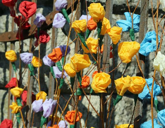 Decorazioni fiori di carta